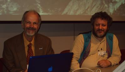 Alan Watson and Jindrich Petrlik at IPEN waste side event
