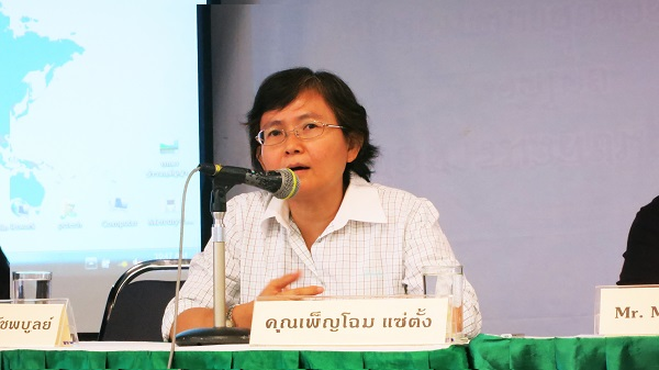 Penchom Saetang, EARTH Director, at press conference (Photo by TCIJ)