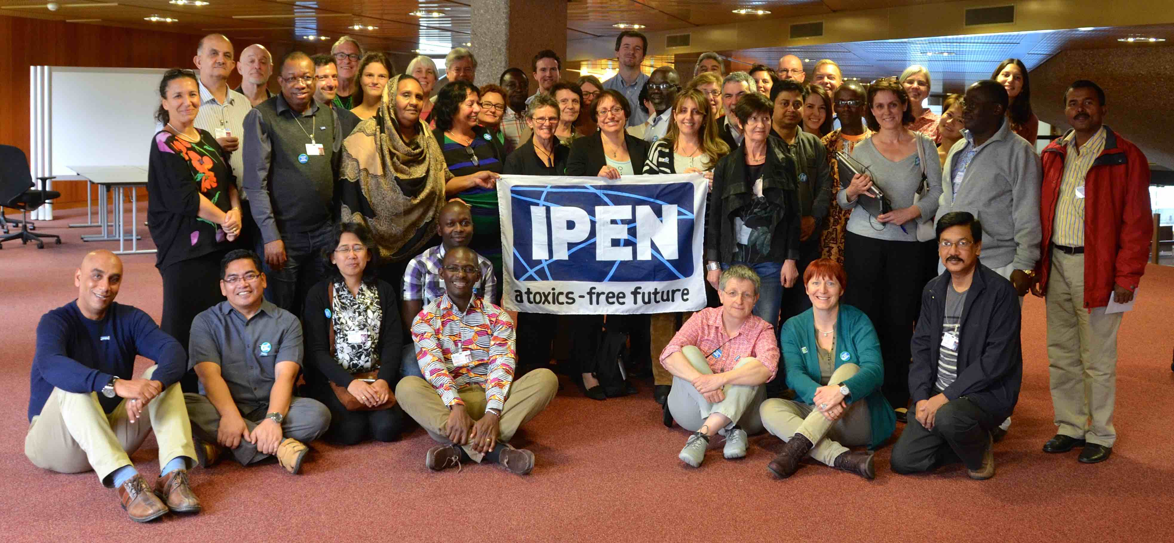 Some of the NGO representatives at the IPEN prep meeting in Geneva prior to the ICCM4