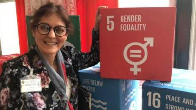 Dr. Olga Speranskaya with Sustainable Development Goal #5