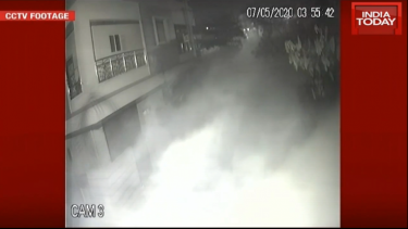 CCTV footage of styrene gas through residences (India Today)
