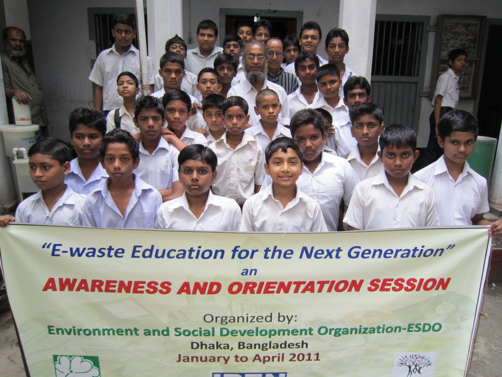 E-waste ISIP activity carried out by ESDO in Bangladesh