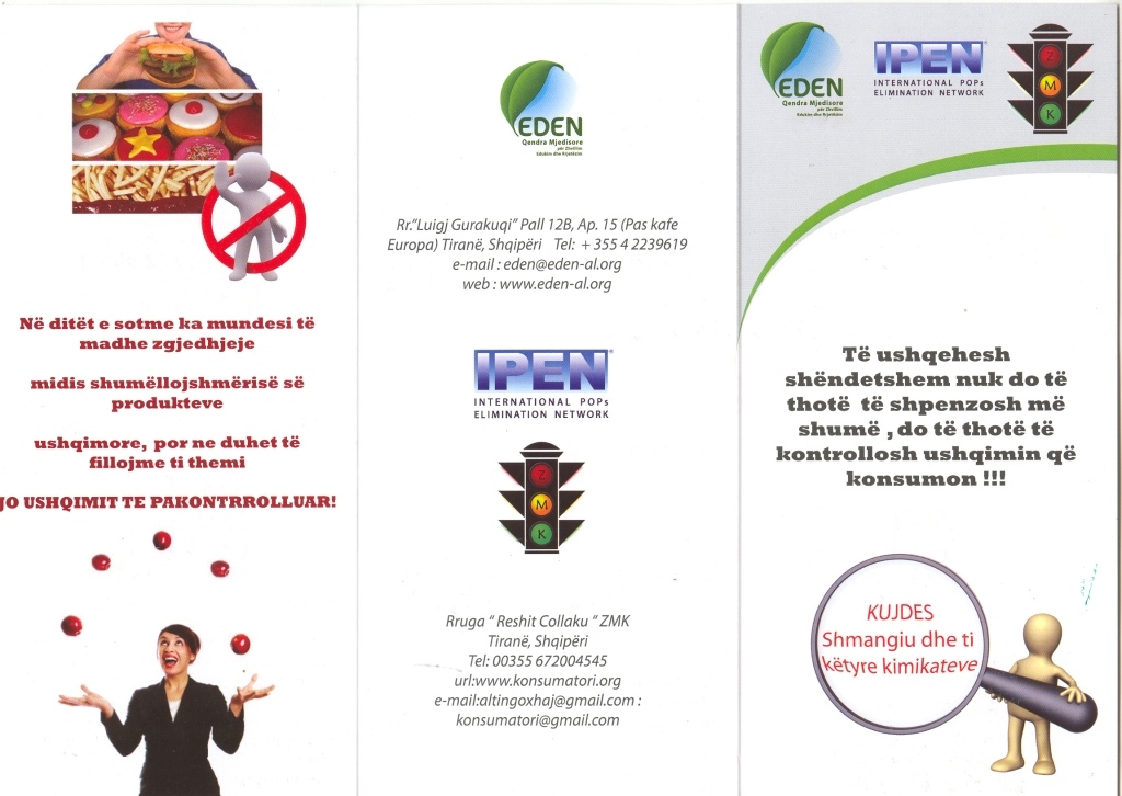 EDEN Center brochure about chemicals in food